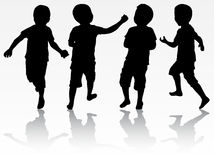 Boys silhouettes Royalty Free Stock Photography