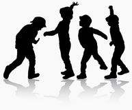 Boys silhouettes Royalty Free Stock Image