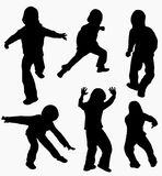 Boys silhouettes happy Royalty Free Stock Photos