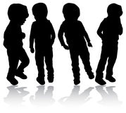 Boys silhouettes Royalty Free Stock Photos