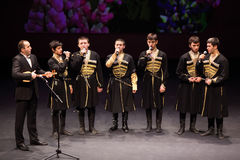 Boys sing at concert of Gennady Ledyakh School Stock Photo