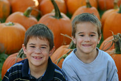 Boys Smiling Royalty Free Stock Photo