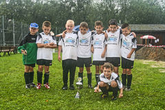 Boys from soccer team BSC Royalty Free Stock Image