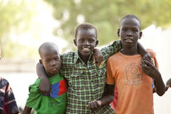 Boys in South Sudan Royalty Free Stock Photos