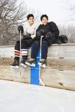 Boys in sports uniforms. stock photos