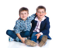 Boys in the studio Royalty Free Stock Photography