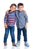 Boys in the studio Stock Images