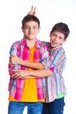 Boys in the studio Royalty Free Stock Image