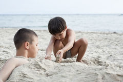 Boys on summer 2 Stock Photo