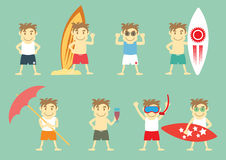 Boys in Summer Stock Images