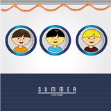 Boys in summer Royalty Free Stock Images