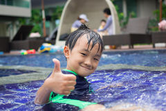 Boys swimming pool Stock Images