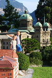 Boys in Swiss Miniature Stock Photography