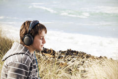 Boys and thier music Royalty Free Stock Images