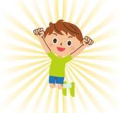 Boys to jump royalty free illustration