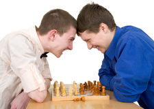 Boys to play chess Stock Images