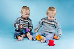 Boys Twins Royalty Free Stock Photography