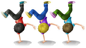 Boys Up side down Royalty Free Stock Photos