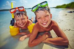 Boys on vacation Royalty Free Stock Photo