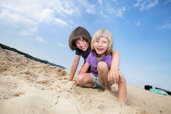 Boys on vacations Royalty Free Stock Photo