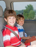 Boys in a Van Royalty Free Stock Photos
