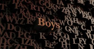 Boys - Wooden 3D rendered letters/message Stock Photography