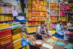 Free Boys Work At A Book Making Shop At Siliguri In West Bengal, India Stock Image - 177913711