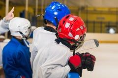 Boys young hockey players stock photos