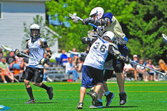 Boys youth lacrosse 7-8gr Royalty Free Stock Photos