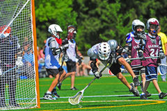 Boys youth lacrosse Royalty Free Stock Photography