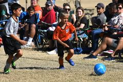 Boys Youth Soccer Action.