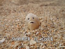 Funny objects. Summer is over stock images