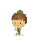boyscout Vektor Illustrationer