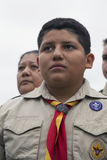 Boyscout faces at 2014 Memorial Day Event, Los Angeles National Cemetery, California, USA Royalty Free Stock Photos
