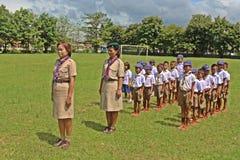 Boyscouts está fazendo a atividade no DIA TAILANDÊS de BOYSCOUT imagem de stock royalty free