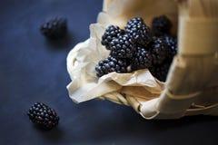 Boysenberry. Fresh Boysenberries at the basket stock photo