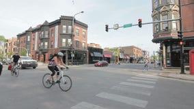 Boystown-Schnitt in Chicago, Illiinois stock video footage