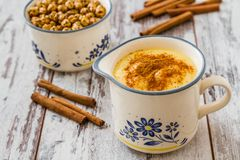 Boza or Bosa, traditional Turkish dessert Royalty Free Stock Image