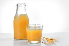 Boza drink. From fermented cereal beverage Stock Photography
