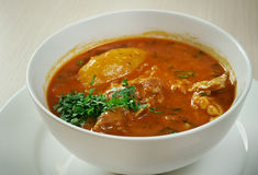 Bozbash. Iranian, Azerbaijan  mutton soup Stock Image