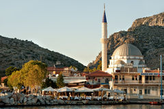 Bozburun mosque in port,  Bozburun Mugla  Turkey Stock Image
