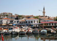 Bozcaada Island Harbor,Turkey Royalty Free Stock Images