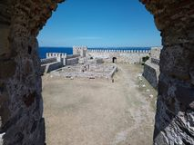 Bozcaada& x28; tenedos& x29; castelo Imagem de Stock