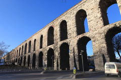 Bozdogan Aqueduct in Istanbul. Stock Photos