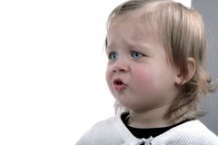 Boze baby royalty-vrije stock afbeeldingen
