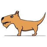 Boze beeldverhaalhond. Vectorillustratie Royalty-vrije Stock Foto's