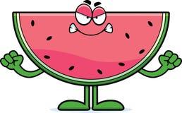 Boze Beeldverhaalwatermeloen Royalty-vrije Stock Afbeelding