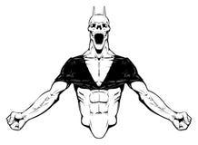 Boze Demon. vector illustratie