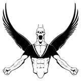 Boze Demon. stock illustratie