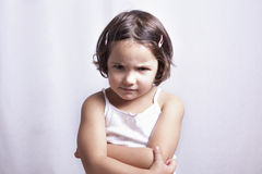 Boze drie jaar oud meisje Royalty-vrije Stock Foto